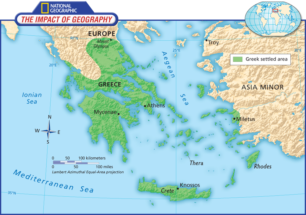 Maps of Ancient Greece - 6th Grade Social Stus Greece Maps on