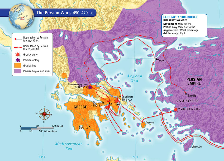 Sparta and athens 6th grade social studies greek victory in 480 bc persia again invaded greece in spite of past quarrels with each other several greek city states united against persia gumiabroncs Choice Image