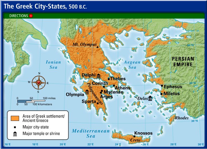 Map Of Ancient Greece City States Maps of Ancient Greece   6th Grade Social Studies