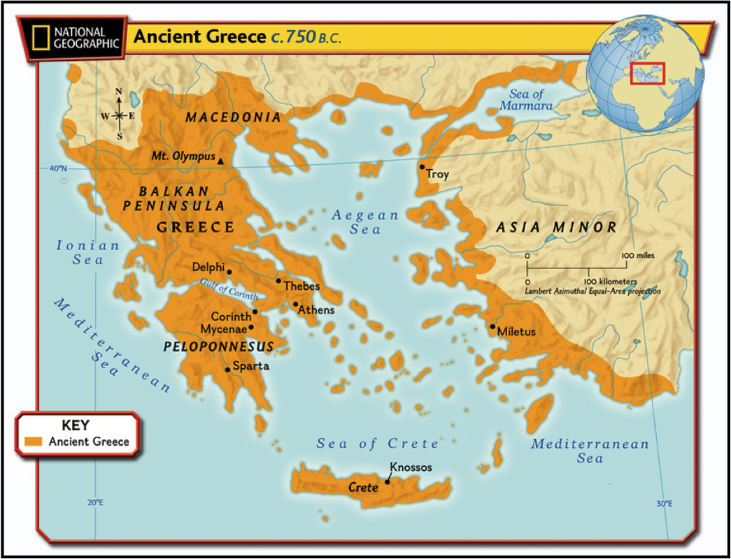 Maps of ancient greece 6th grade social studies located in southern europe greece is made up of the mainland and hundreds of small islands spread throughout the ioanian aegean and mediterranean seas gumiabroncs Gallery